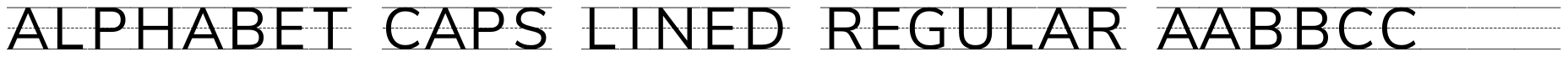 Alphabet Caps Lined