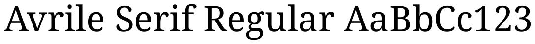 Avrile Serif