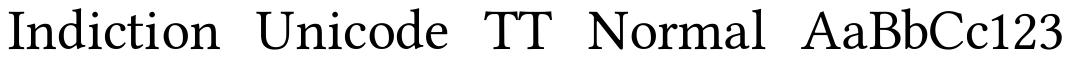Indiction Unicode