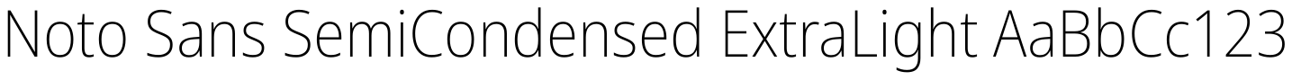 Noto Sans SemiCondensed