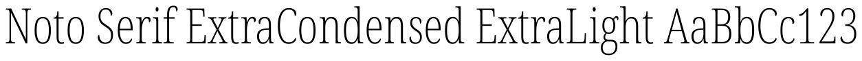 Noto Serif ExtraCondensed