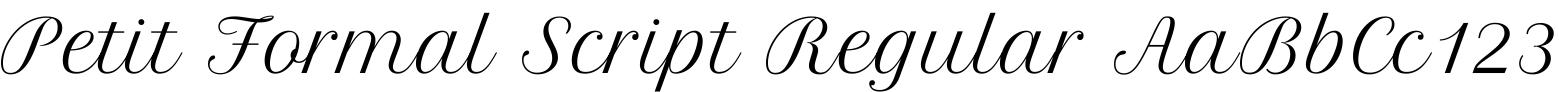 Petit Formal Script