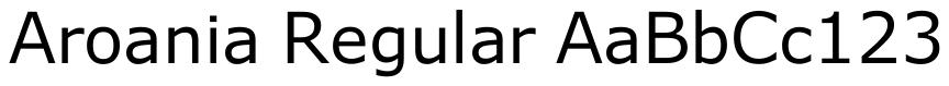 Aroania (Textfonts)