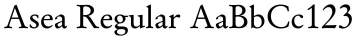 Asea (Textfonts)