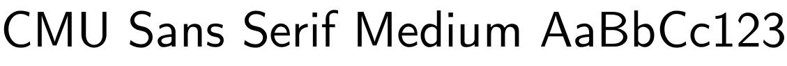 CMU Sans Serif