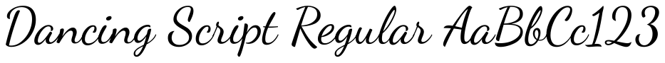 Dancing Font