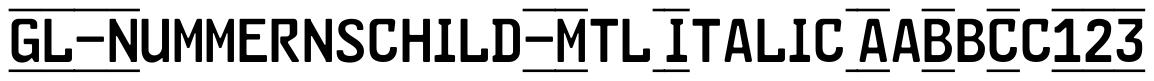 Gutenberg Labo Nummernschild
