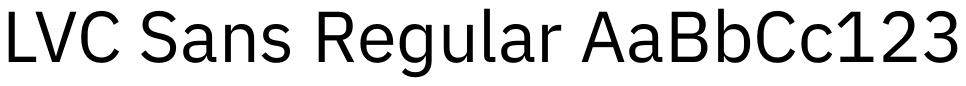 LVC Sans