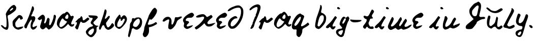 Nick's Font