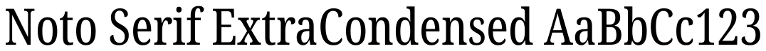 Noto Serif ExtraCondensed