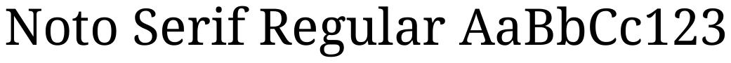 Noto Serif Normal