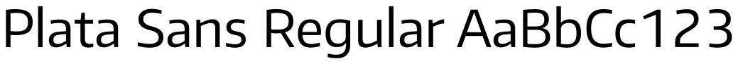 Plata Sans