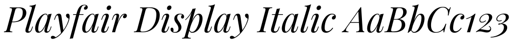 playfair display italic