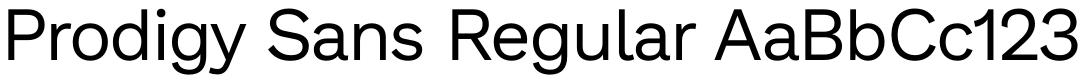 Prodigy Sans