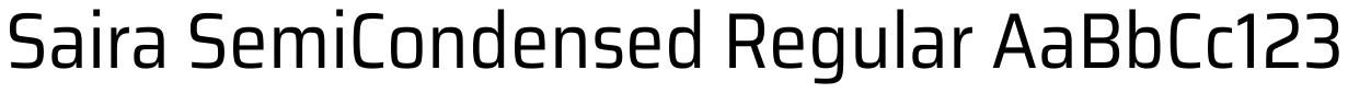 Saira Semi Condensed