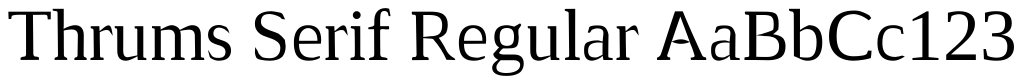 Thrums Serif Regular